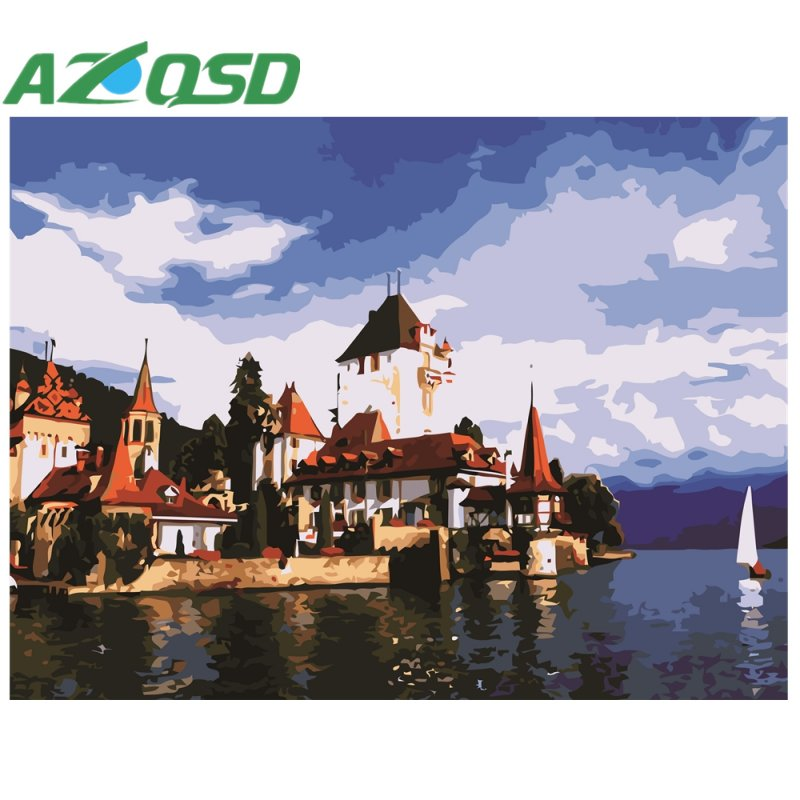 Home & Garden Azqsd Holiday Seaside Beach Painting By Numbers On Canvas 40x50cm Frameless Oil Painting Picture By Numbers Home Decor Szyh6121 Latest Fashion