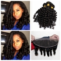 10A Raw Indian Virgin Hair Loose Wave Lace Frontal 13x4 Ear to Ear Closure And 3 Bundles Human Funmi Hair Weave Top Quality