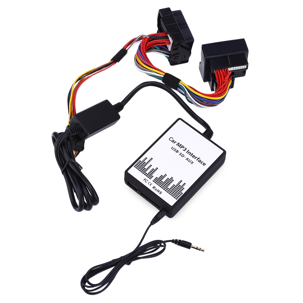 imágenes para Interfaz de MP3 del coche del USB/SD Cable de Datos de Audio Digital de CD cambiador para Ford Chips de Diseño Inteligente fácil de Instalar Amplificador Incorporado
