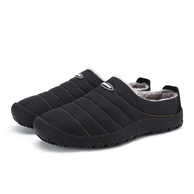 Unisex Winter Men Casual Shoes Indoor 36-46 Size Black Color Warm Unisex Soft Fleeces Indoor Men Casual Shoes for Man zan headgear neodanna gender mens unisex primary color white distinct name gun gangster size osfm wneolt101