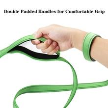 HOTFUN Dog Leash Reflective Double Handle Reflective Traction Rope Nylon Adjustable Training Leash Double Hands-Free Dogs Leash