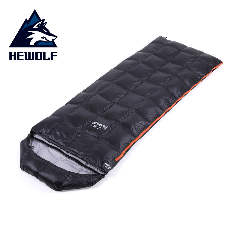 Hewolf Ultralight Outdoor Sleeping Bag with 400G Duck Down Portable Waterproof Envelope Sleeping Bags for Camping Hiking Travel