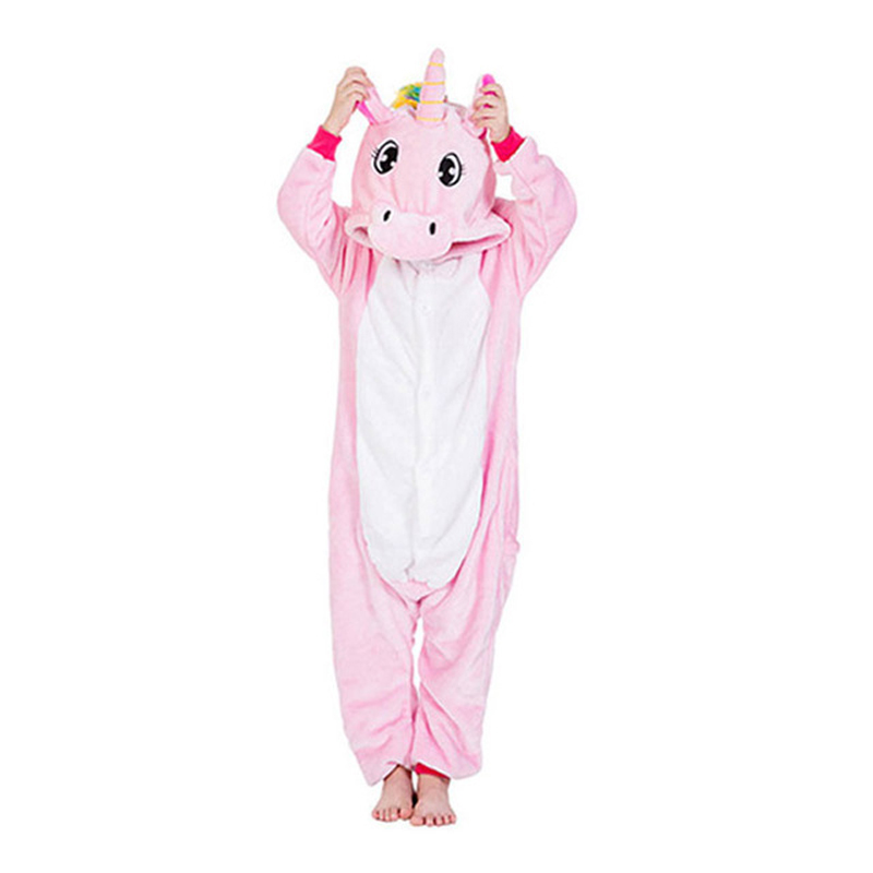 Animal Onesies Lion Deer Fox Kigurumi Overalls Kids Flannel Warm Soft Sleep Suit Boy Girl Festival Christmas Party Funny Pajamas
