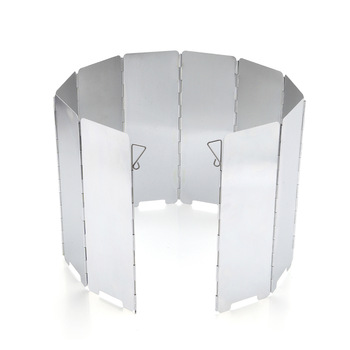 10 Plates Outdoor Gas Stove Wind Shield Foldable Camping Cooking Burner Windproof Screen Aluminium Alloy Picnic Stove Windshield
