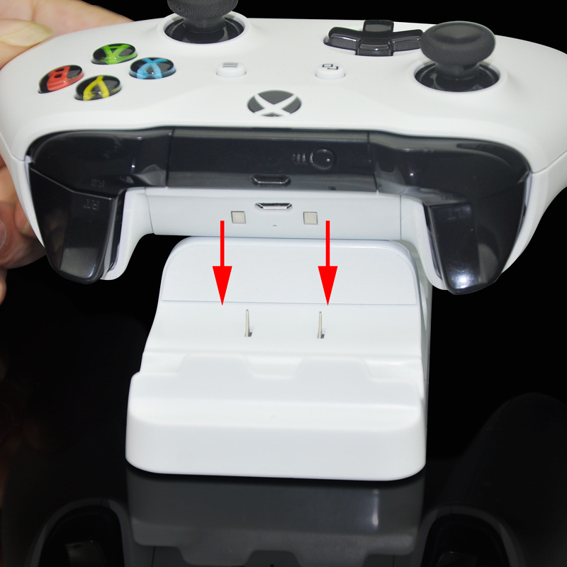 For Xbox One Dual Charging Dock Station Charger Stand+2pcs Rechargeable Batteries for XBOX ONE Rechargeable Battery Dual Charger