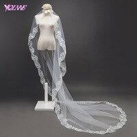 YQLNNE 3m White Ivory Wedding Veils Single Layer Lace Edge Bridal Veil Accessories