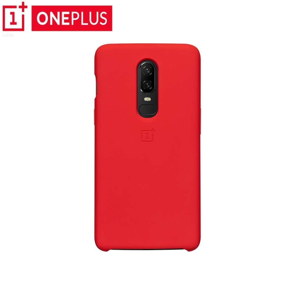 Original OnePlus 6 Silicone Case Protective Cover official Product Slim Silicone Protective Case Back Cover For OnePlus6