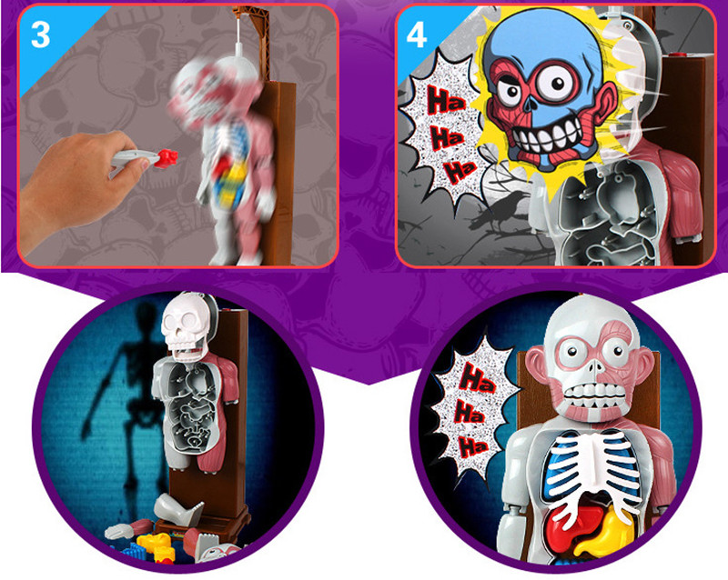 Funny Simulation Human Organs 3D Puzzles Assembled Scary Human Body Model Halloween Tricky Joke Toy Novelty & Gag Toys 2