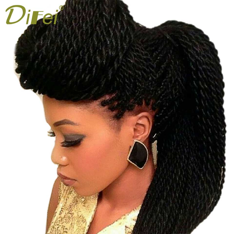 DIFEI 22 Ombre Synthetic Crochet Braids For Braiding Hair 30strands Ombre Kanekalon Senegalese Twist Crochet Hair Extensions