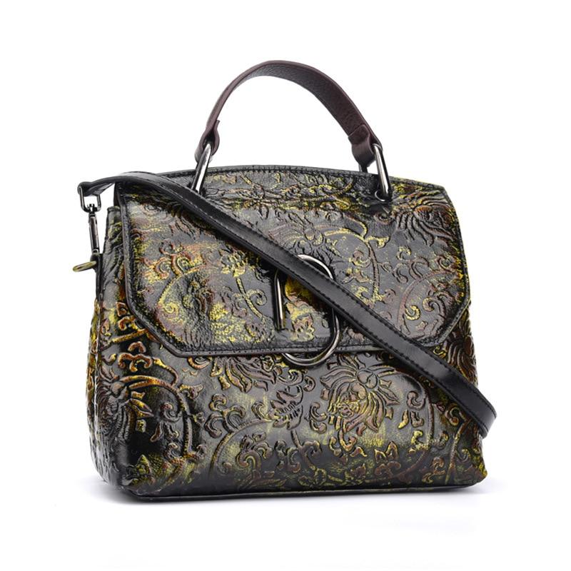 Brand Genuine Leather Distressed Casual Handbag Women's Cross Body Shoulder Bag Ladies Handle Messenger Bag Totes Pack цена 2017