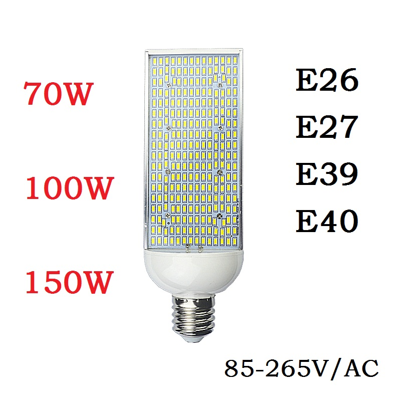 70W 100W 150W Energy saving high power Corn Bulbs E27 E26 E40 E39 street Spot lights Aluminum Lamp Warm Cold White Lighting 2pcs