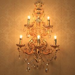 Вилла Catsle 5-arm большой светодиодный настенный светильник-свеча великолепный 5 огней золотой настенный светильник в виде Канделябра с