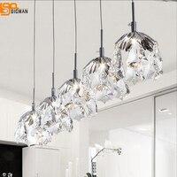 Yeni modern tasarım kristal kolye ışıkları G4 luminare lustre yemek odası lamba bar ışık