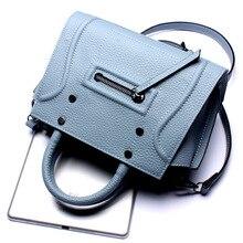 2016 Hot Fashion Women Saffiano Shoulder  Bags Genuine Leather Portable Lady Bags Messenger Bag Real Leather Handbag  for Girls