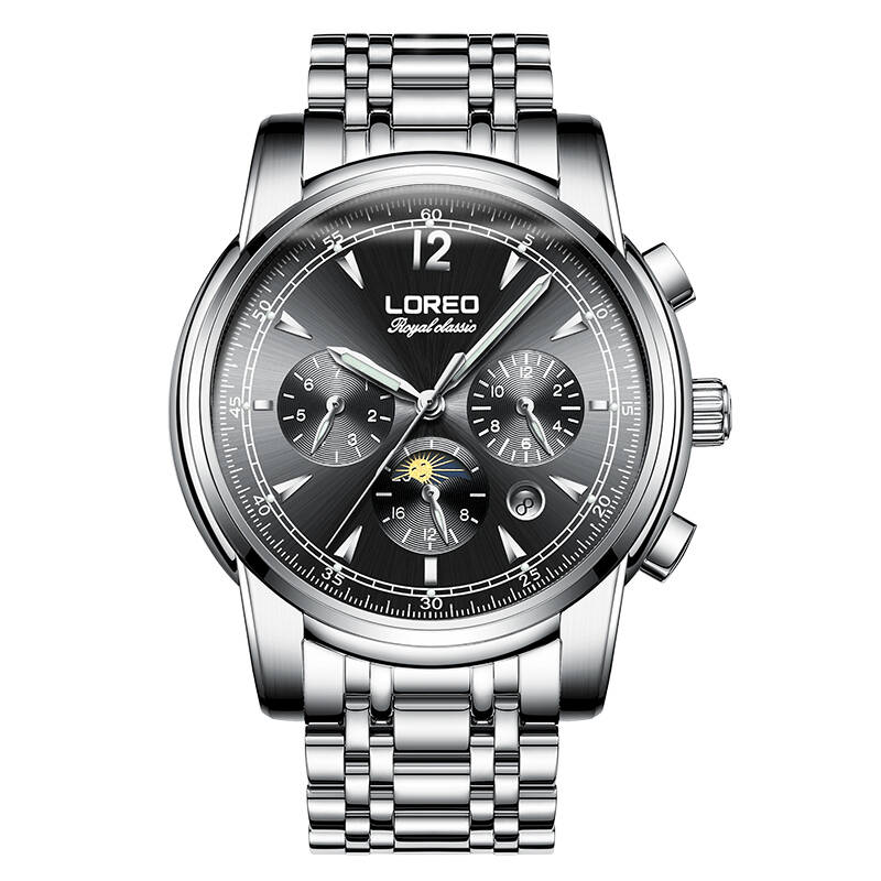 LOREO 6105 Germany watches automatic mechanical moon phase sapphire luminous golden Royal Classic relogio masculinoLOREO 6105 Germany watches automatic mechanical moon phase sapphire luminous golden Royal Classic relogio masculino