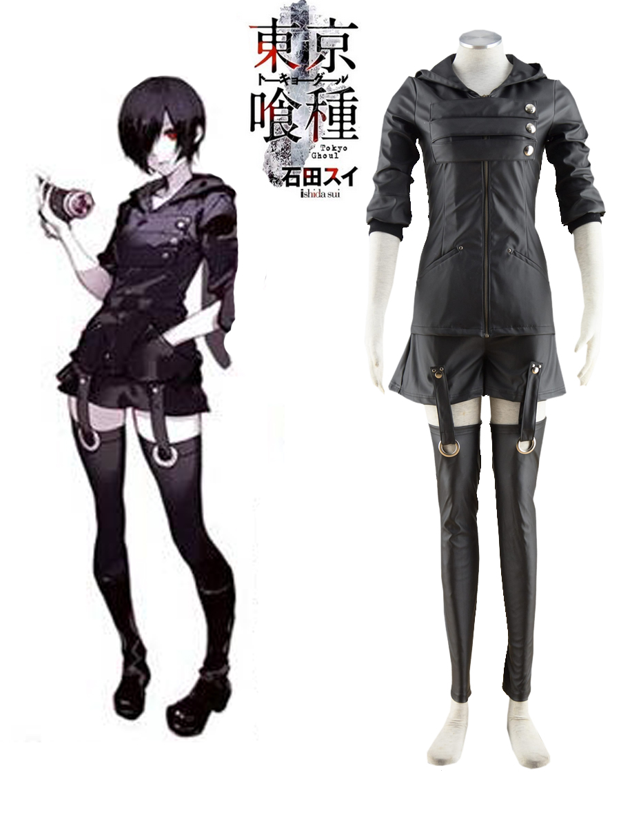 все цены на Free Shipping Tokyo Ghoul Touka Kirishima Ghouls Fighting Uniform Anime Cosplay Costume