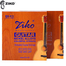 ZIKO DA 011-047 012-052 Acoustic guitar strings Nickel alloys colorful strings musical instrument guitar parts rotosound r9 strings nickel super light