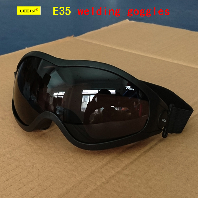 E35 Type High Quality Safety Goggles Gray-black Be Applicable Welding Glasses Anti-fog Anti-scratch Anti-shock Safety Glasses