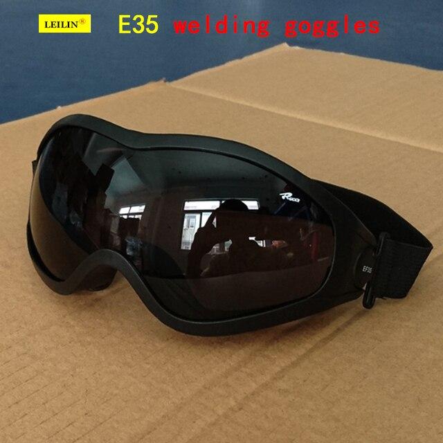 E35 тип высокого качества защитные очки серо-черный быть применимо сварки очки Анти-туман анти-царапин анти-шок защитные очки