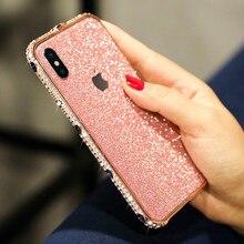 Luxury Shiny Crystal phone case for iPhone XR 6 6S 7 8 PLUS Glitter Aluminum Case X XS MAX Rhinestone Shinning shell