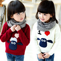 New arrive girls sweaters 2016 autumn winter shaun the sheep quality pullover casual sweaters girls children outfits