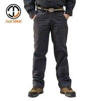 2018 Hommes Casual Pantalon Coton Pantalon Multi Poche Cargo Pantalon Chino Marque Vêtements Plus Taille ID633