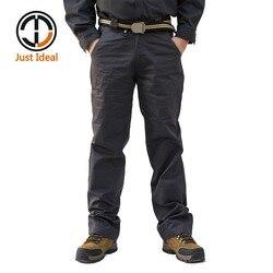 2020 uomini Casual Pantaloni di Cotone Pantaloni Multi-Tasca Cargo Pant Pantaloni di cotone di Marca di Abbigliamento Plus Size ID633