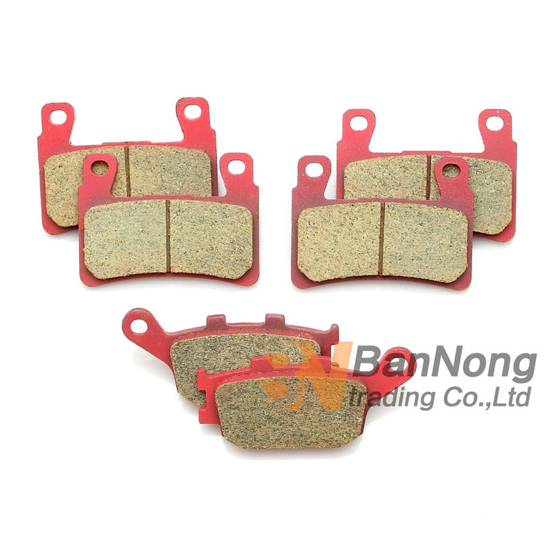 Free shipping Motorcycle Ceramic Front&Rear Brake Pads For Honda CB400 Superfour 2004-05-06-07-08/CBR600 F1 F2 F3 F4 F5 F6 99-06