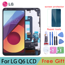 цена на ORIGINAL 5.5 2160x1080 IPS Display For LG Q6 LCD with Touch Screen Digitizer for LG Q6  LCD Display Replacement Parts