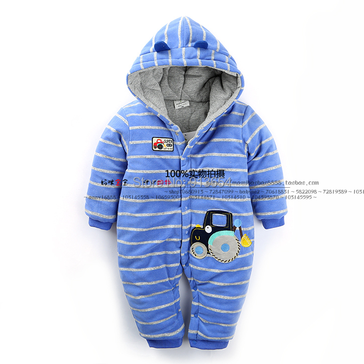 new 2016 autumn winter romper baby clothing infant Romper baby boy warm striped car jumpsuits newborn kids overalls baby costume free shipping new 2017 spring autumn baby clothing infant set gift baby jumpsuits newborn romper 4pcs set 2pcs romper hat bib