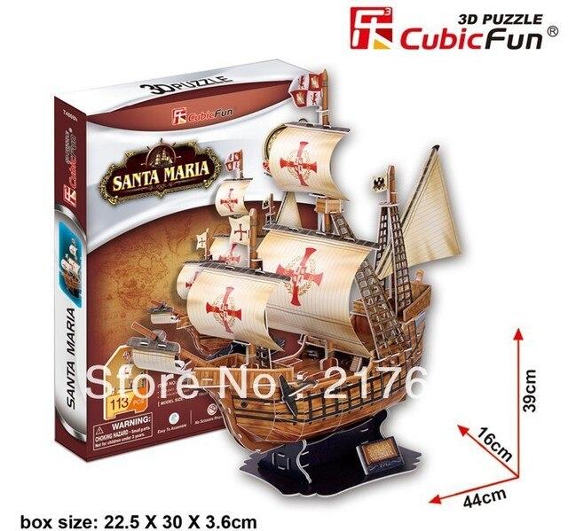 Free shipping, 3D Puzzle SANTA MARIA  , Hot sale