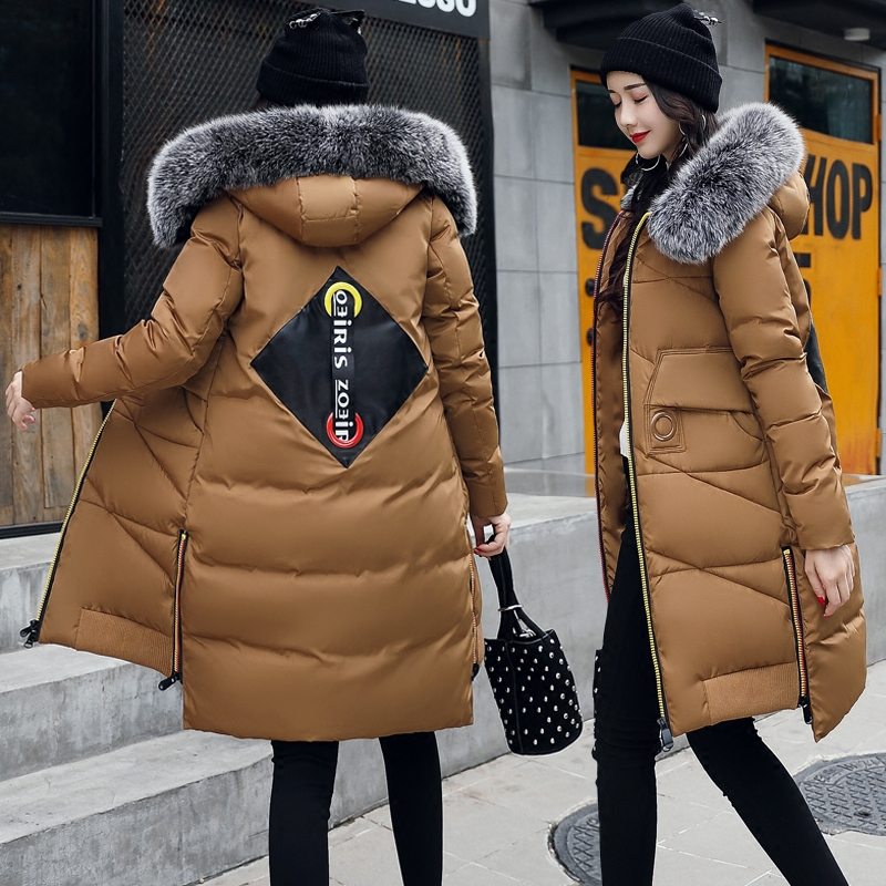 Long Women Parka Winter Coat Warm Jacket Women 2017 New Female Jacket Slim Thick Fur Collar Padded Cotton Female Parkas Plus women parka winter jacket 2017 new down cotton padded coat slim fur collar hooded thick warm long overcoat female parka qw697