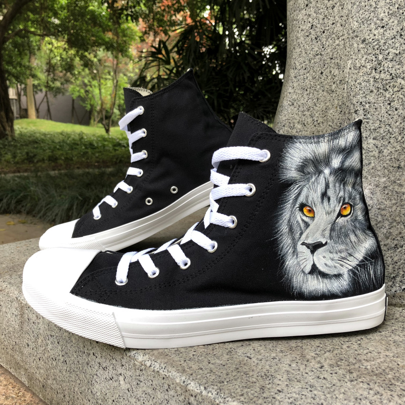 ffcf0d79a12 Wen Galaxy Color Fairy Tail Gray Lucy Hand Painted Shoes Custom Design  Anime Cosplay Shoes Men Women Black Canvas ...