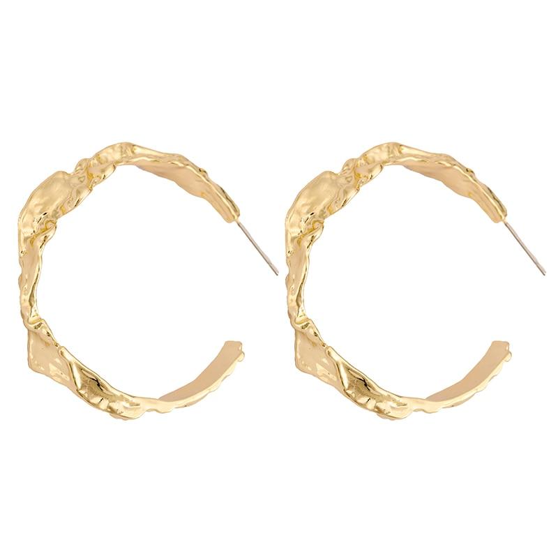 Flashbuy Simple Alloy Hoop Earrings For Women Temperament Exaggeration Earings Big Circle Trend Accessories Wholesale Earrings