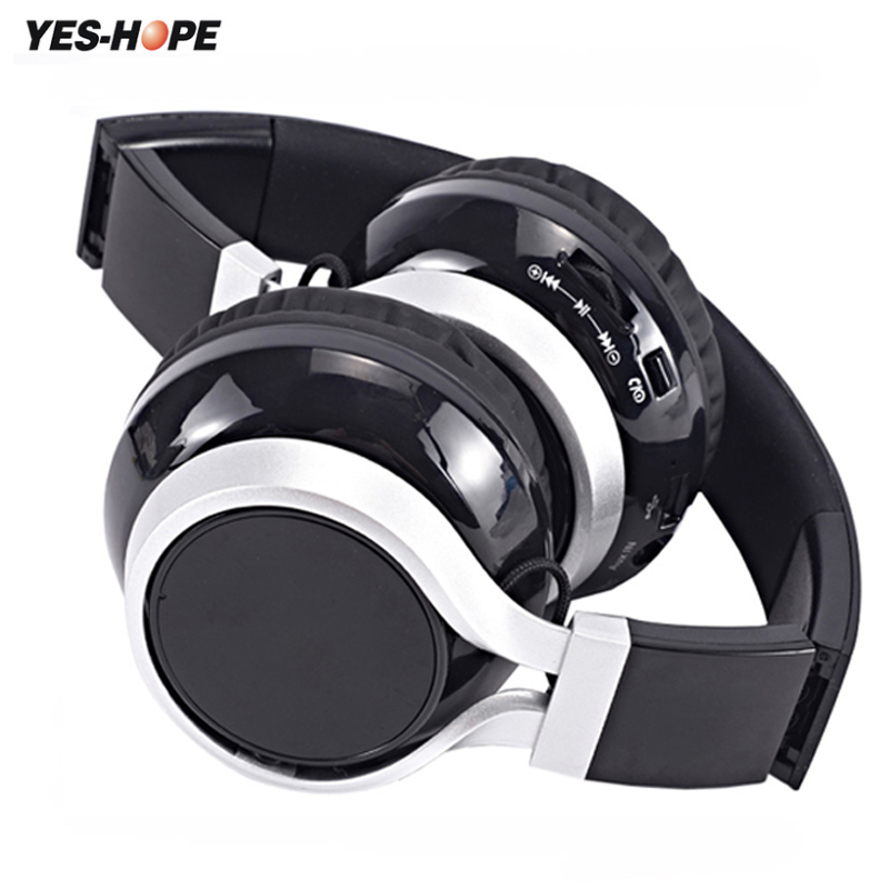 YES-HOPE Cuffie Senza Fili Auricolare Bluetooth Stereo Sport pieghevole Auricolare Gaming Microfono Cordless Audifonos Auriculares