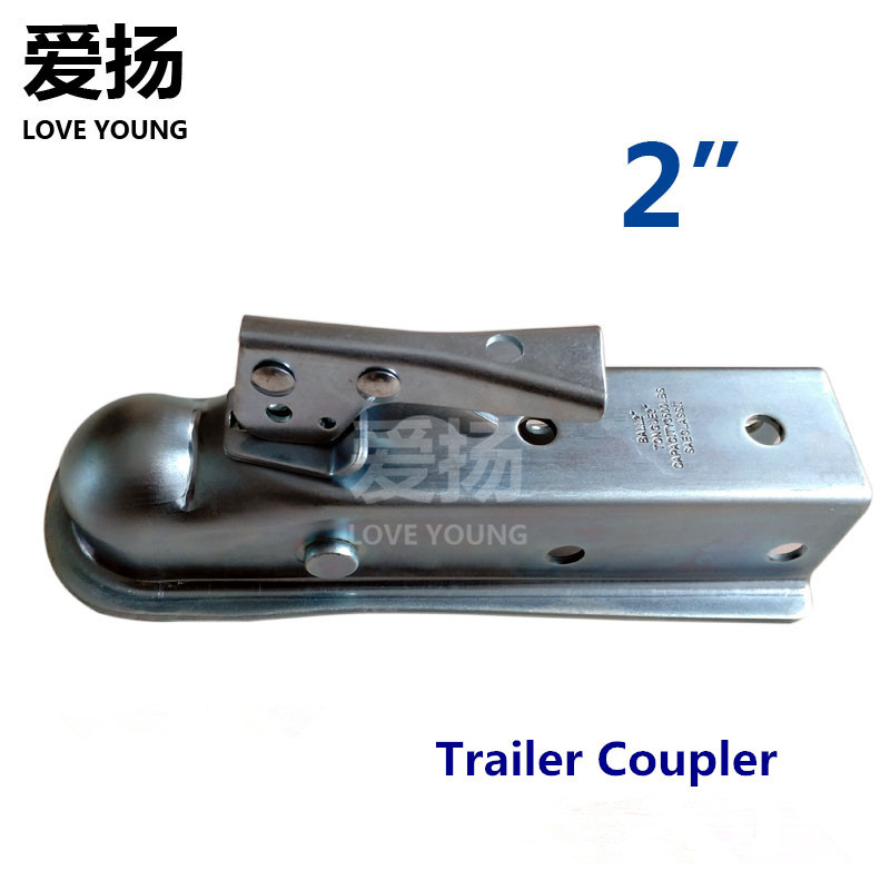 Heay Duty Galvanized Steel 2 Tow Ball Trailer Coupler fit 50MM/2 Ball