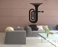 Small Medium Trombone Clarinet School Musical Note Piano Training Room Wall Stickers Bedroom Living Room Sofa