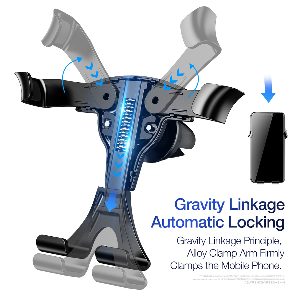 Image 5 - FLOVEME Gravity Car Phone Holder For Phone In Car Mount Stand Mobile Phone Car Holder For iPhone X 7 Support Smartphone Voiture-in Phone Holders & Stands from Cellphones & Telecommunications