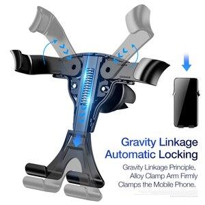 Image 5 - FLOVEME Soporte de teléfono para coche Gravity, soporte de teléfono móvil para coche, para iPhone X 7, compatible con Smartphone, Voiture