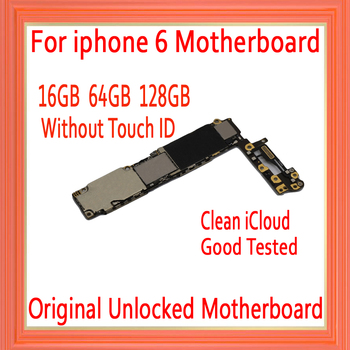with IOS System for iphone 6 4.7inch Motherboard without Touch ID,Original unlocked for iphone 6 Logic board 16GB 64GB 128GB