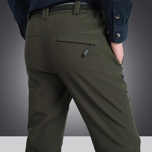 Mens Tactical Pants New Brand Velvet Warm Mens Army Pants Waterproof Men Casual Pants Bermuda Homme