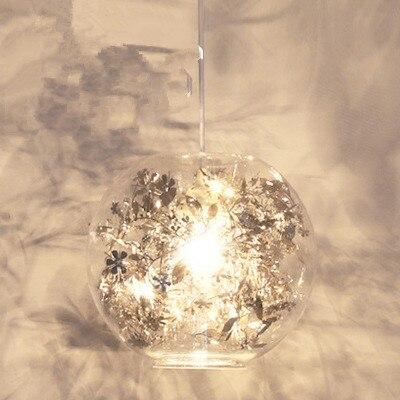 Nordic wisiorek światła szkło lampa wisząca nowoczesne Lustre Fish Tank stali nierdzewnej kwiat zawieszenie oświetlenie kuchni oprawy oświetleniowe w Wiszące lampki od Lampy i oświetlenie na lighting solution Store