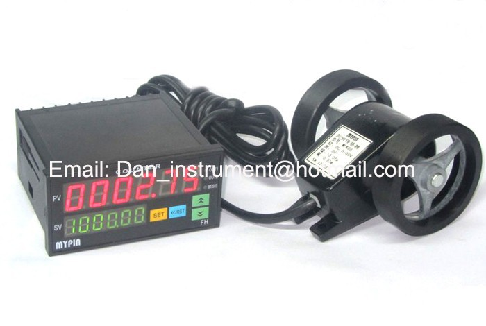Connectable with machine  PLC cable meter counter length measerement measure in meter and yard free shiping z96 f 5 digit meter counter mechanical length measure counter instrument used to measure length