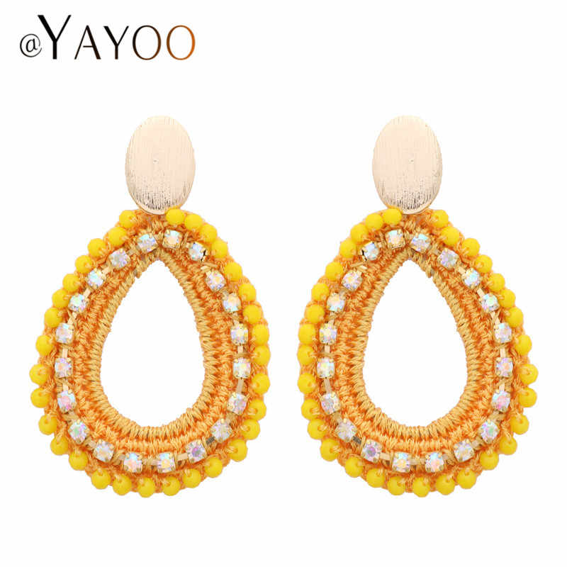 Round Drop Dangle Earrings For Women Gold Color Big Earrings Fashion Jewelry Summer Style Statement Earring Pendientes
