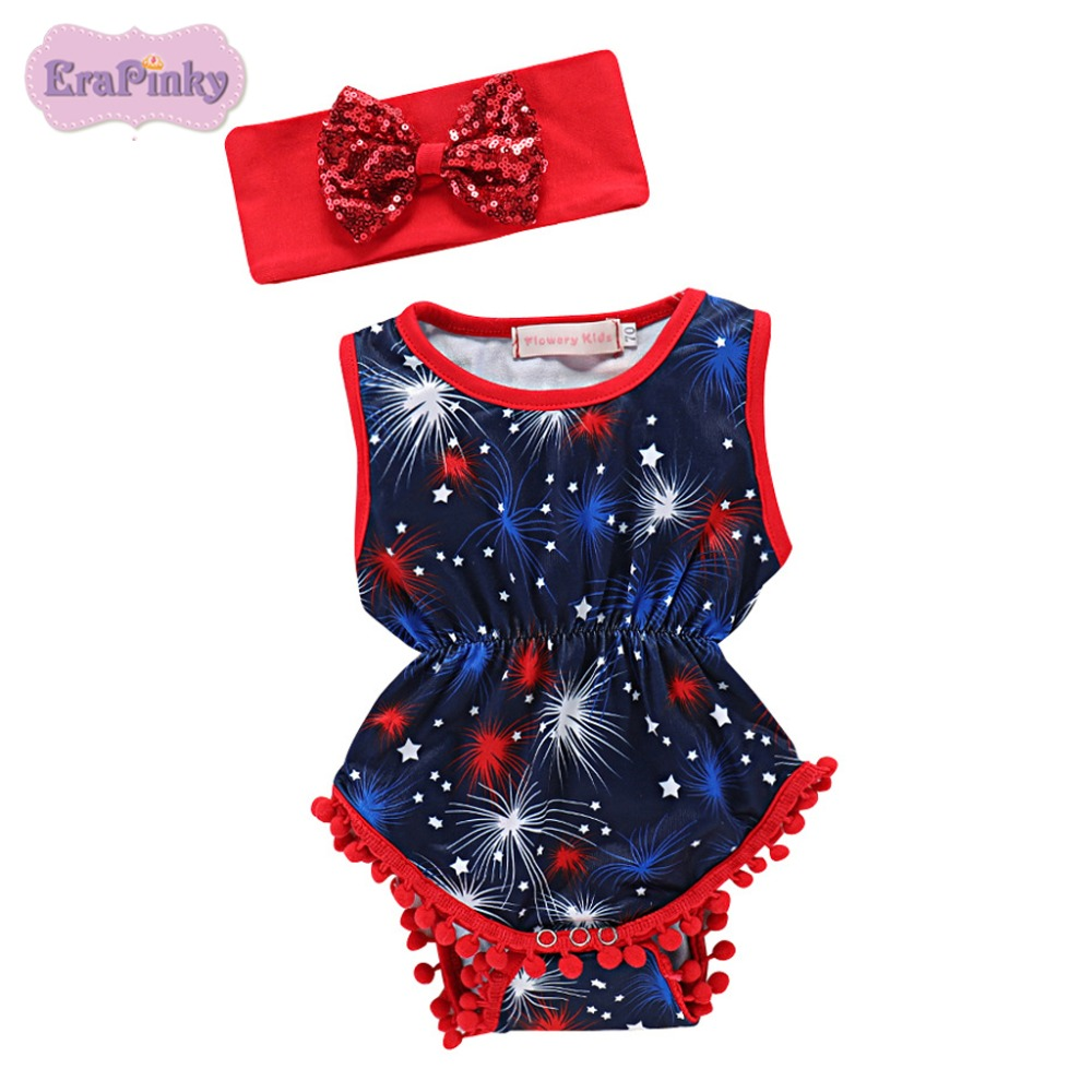 Erapinky Fathers Day Kids Baby Bodysuits Clothing Summer Girls/Boys Print Cake Smash Outfits With Headband Costume For Newborn