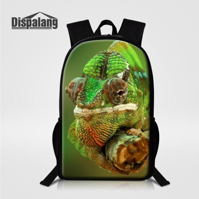 Dispalang Men Business Casual Backpacks For School Lizard 3D Printing  School Bag Women Fashion Travel Shoulder fbaa33888f883