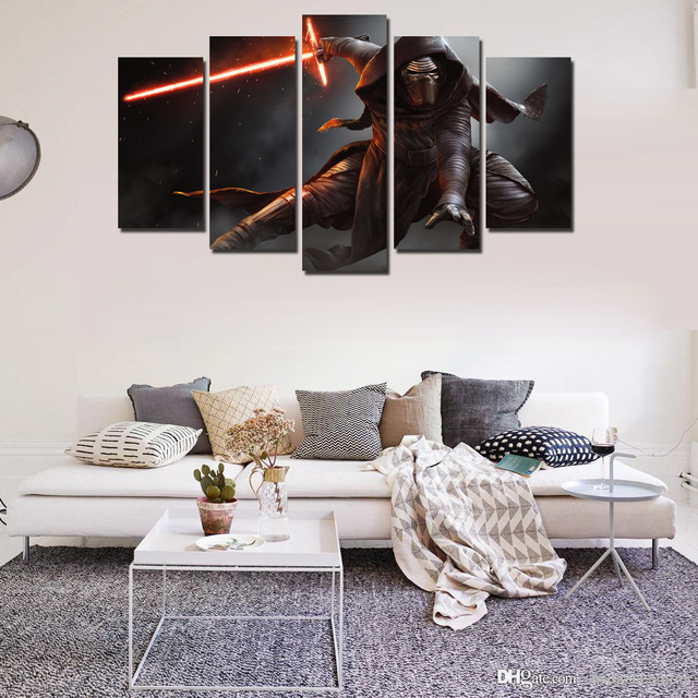 5 Piece 2017 Star Wars New Movie Art Canvas Print Picture For Home Wall Decor Decoration (Click see to more)-002
