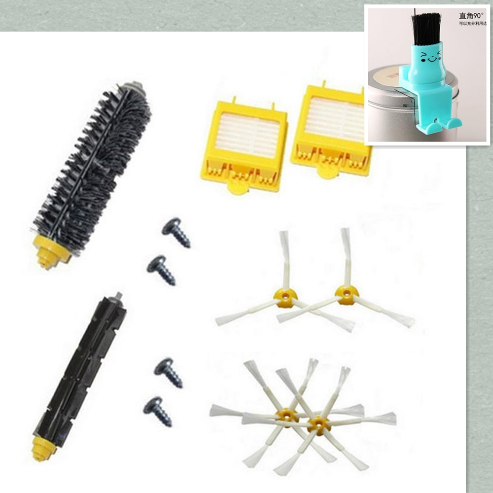 Hepa Filter + Flexible Beater Bristle Brush kit + side brush + screw clean brush kit for iRobot Roomba 700 760 770 780 790 parts корм вака высокое качество просо для птиц и грызунов 500 гр
