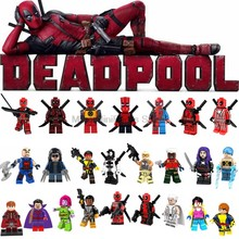 Legoing Deadpool Building Blocks Marver Avengers Infinity War Super Heroes Thanos X-men Toys for Children Legoings Magneto(China)