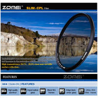 ZOMEI HD Optical Glass Ultra Slim CPL Polarizer Camera Lens Filter Optical Glass For Canon Nikon
